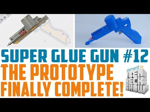 Super Glue Gun 12: Design with Fusion 360 - Final Design