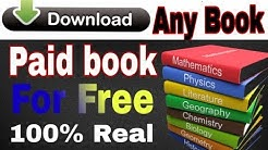 How to Download any book for free in PDF.|100% Real and working. |