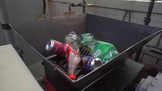 Shredding Machine Test  Drink Cans Andamp Bottle