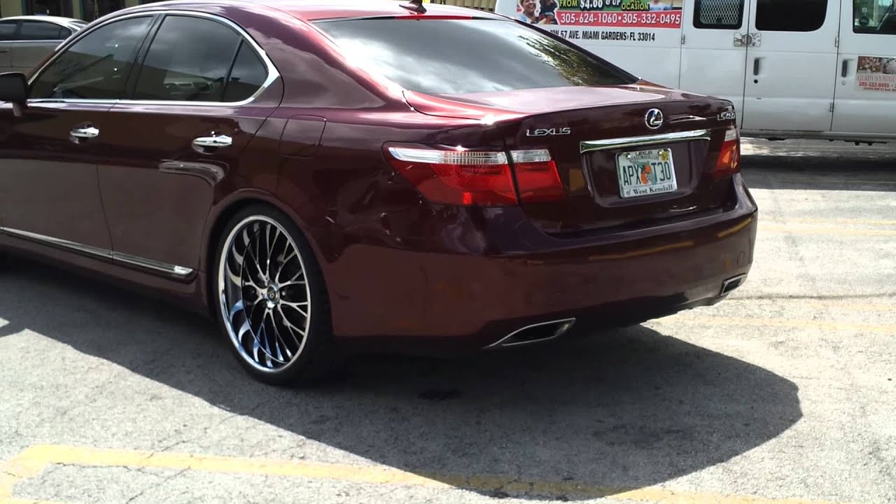"""WTW Customs Lexus LS460 on 22"""" Lorenzo s"""