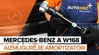 priekšā Amortizators uzstādīšana MERCEDES-BENZ A-CLASS (W168): bezmaksas video