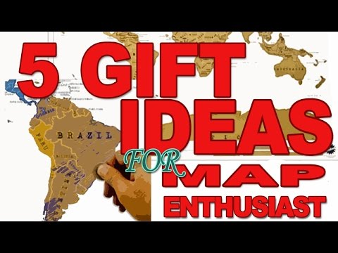 5 Gift Ideas for the Map Enthusiast