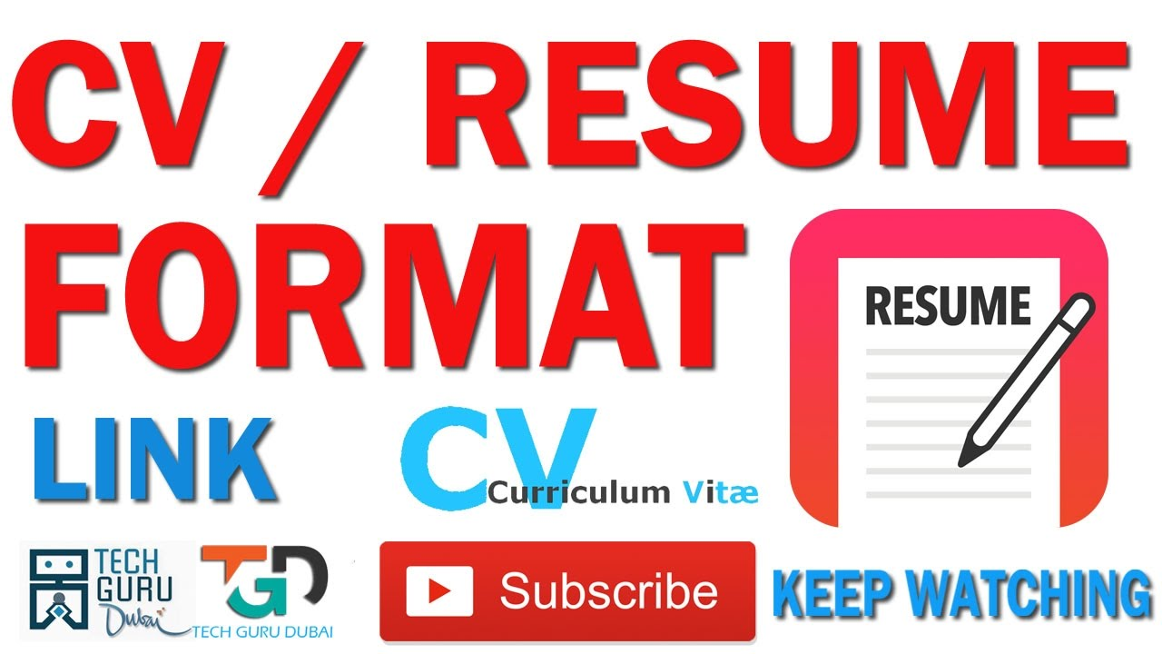 Cv Format Download Link स व र ज य म ड उनल ड