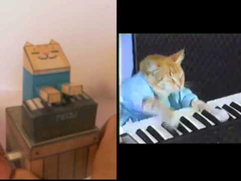 Paper Keyboard Cat