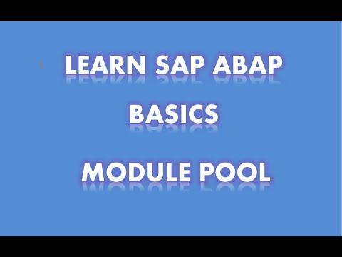 SAP ABAP - module pool