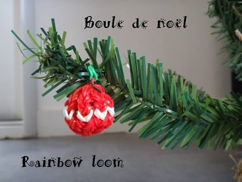 tuto rainbow loom boule de noel elastique diy   YouTube