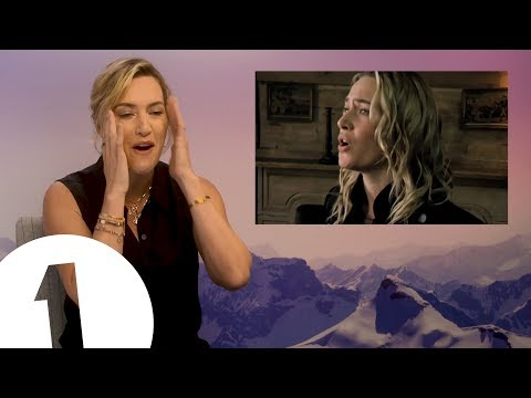 """Turn it off!"": Kate Winslet reacts to her own singing"