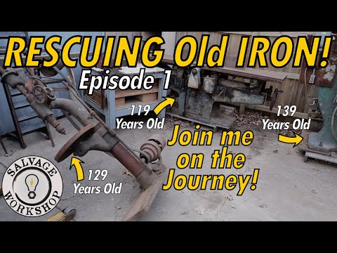 Rescuing OLD Iron ~ 1890's Camel Back Drill Press & MORE ~ Episode 1