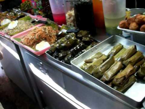 Traditional Malaysian food market