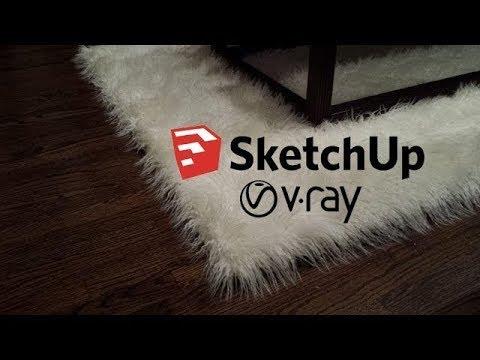 Sketchup Vray 3.4 Fur Ile Halı Yapımı