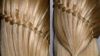 Причёска с плетением. Коса водопад. ЛЕГКО и ПРОСТО.Быстрые причёски