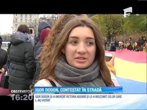 Igor Dodon, contestat în stradă