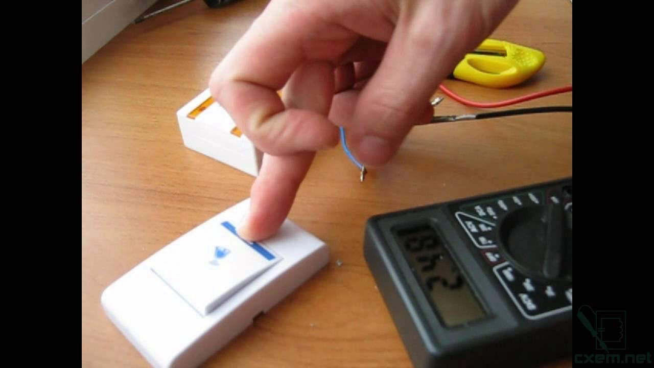 электронная схема безпроводного бытового звонка