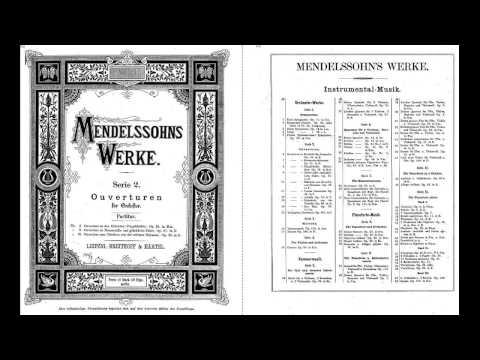 Mendelssohn's Hebrides Overture FULL SCORE GM SYNTH JL