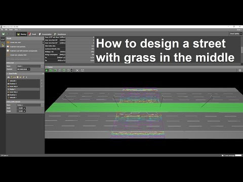 How To Design A Street With Grass In The Middle