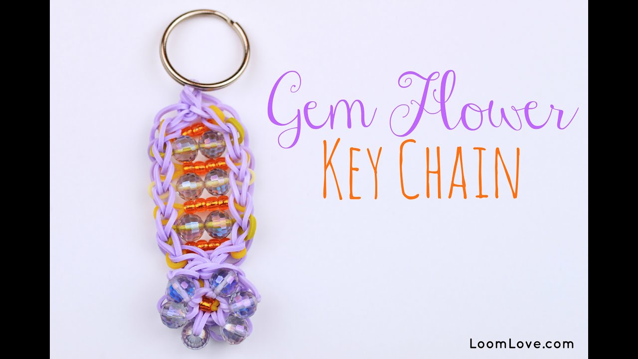 How To Make A Gem Flower Key Chain