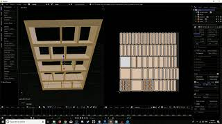 Making a bookcase in blender for roblox & Second Life with UV mapping / shadow textures