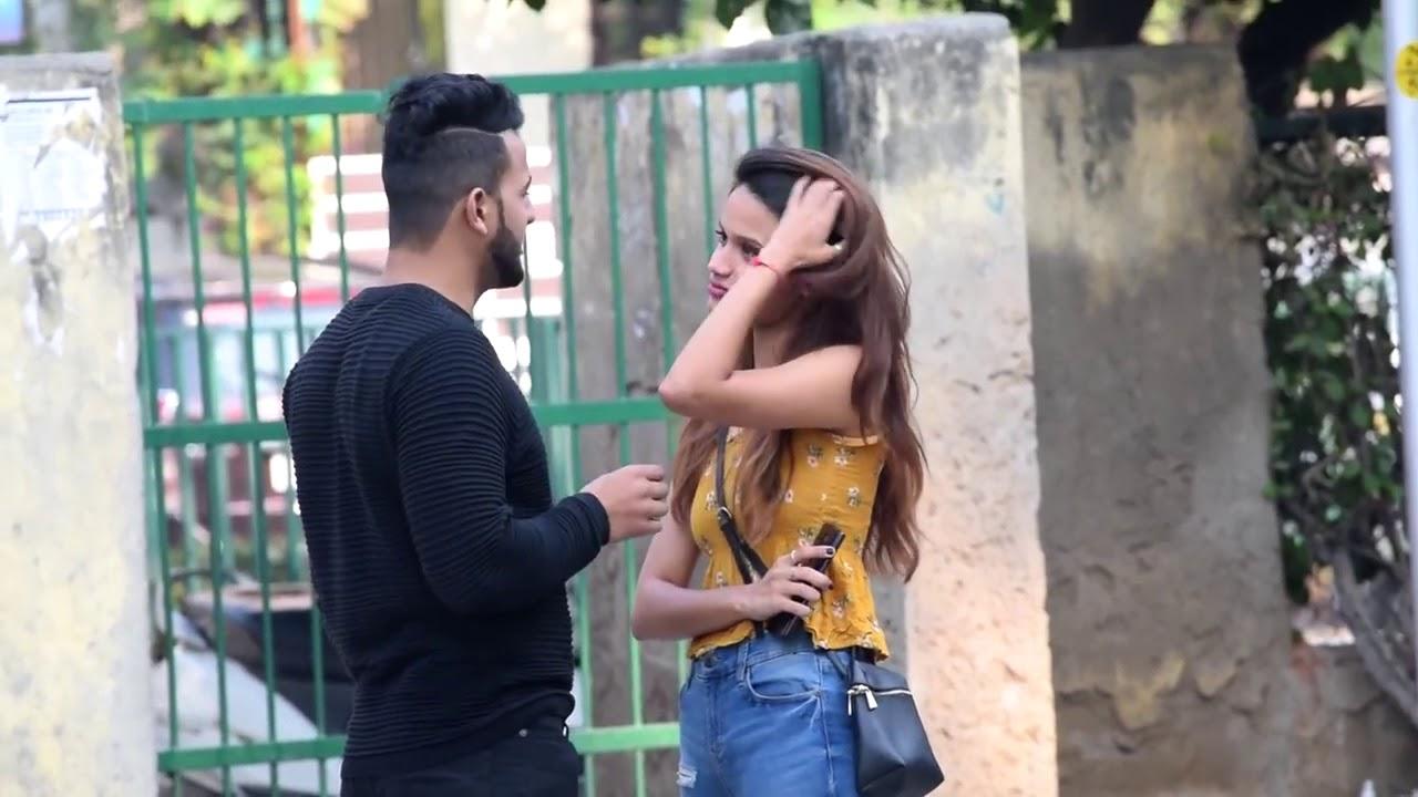 Hugging with girl prank - YouTube