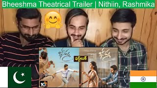Pakistani Reaction On Bheeshma Theatrical Trailer | Nithiin, Rashmika Mandanna | Venky Kudumula