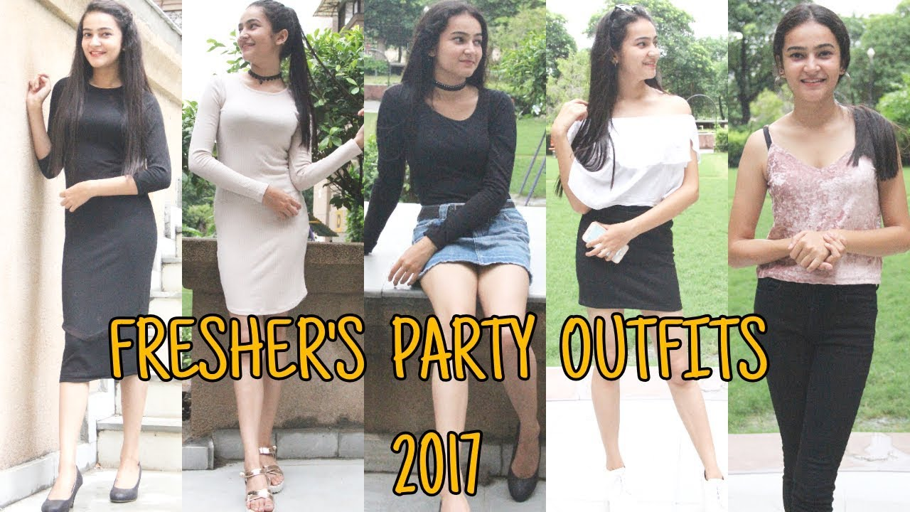 simple fresher party dress for girl