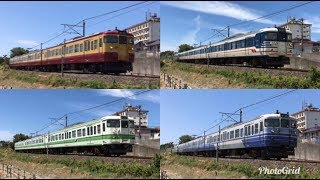 [Japan Railway]JR越後線の各種新潟色115系近郊形電車 Type 115 Trains in Niigata