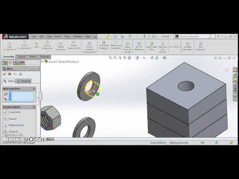 Fastener Assembly in SolidWorks