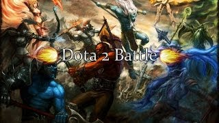 Dota 2 Battle Silencer vs Queen of Pain (Сайленсер против Квопы)