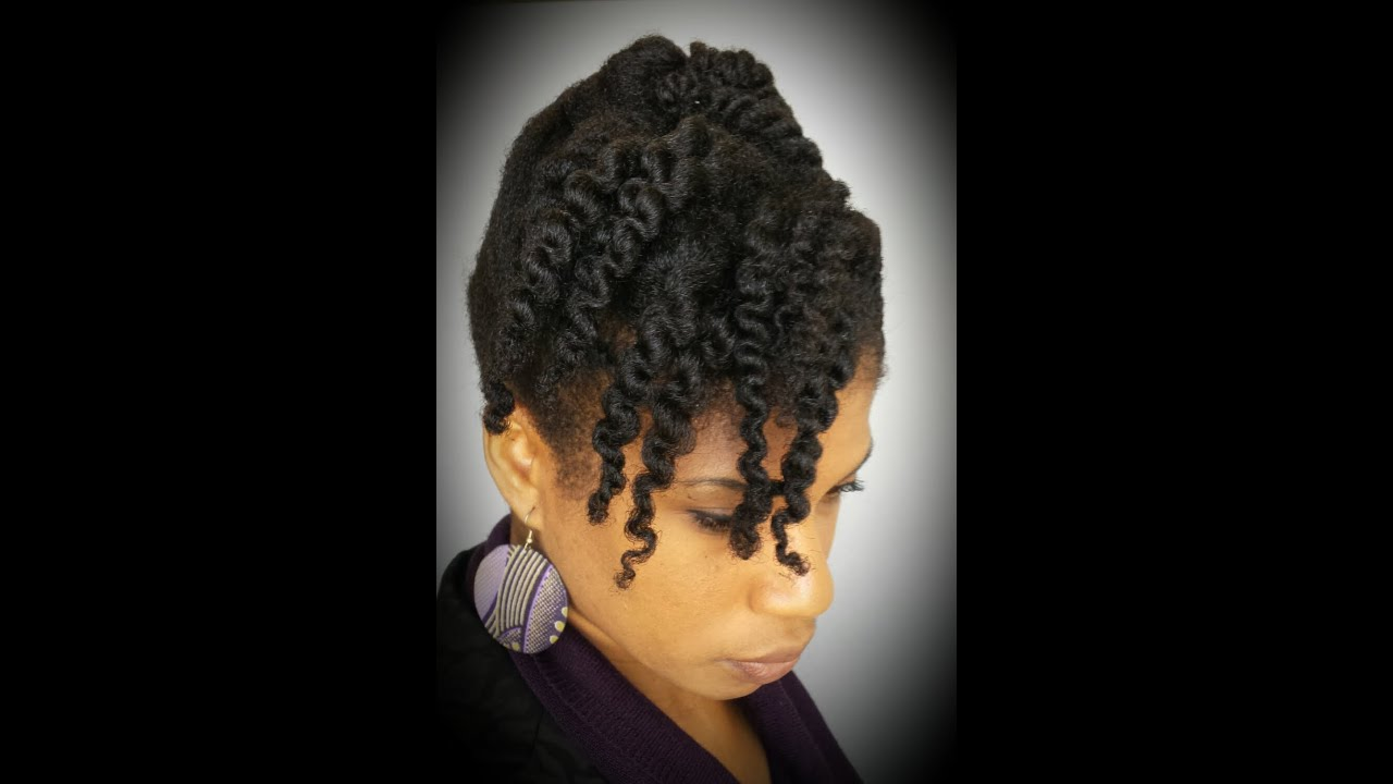 4 Natural Hair 10 Minute Cornrow And Twist Updo Protective Style