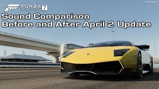 Forza Motorsport 7 - Lambo Murciélago LP 670-4 SV Sound Comparison - Before and After April 2 Update