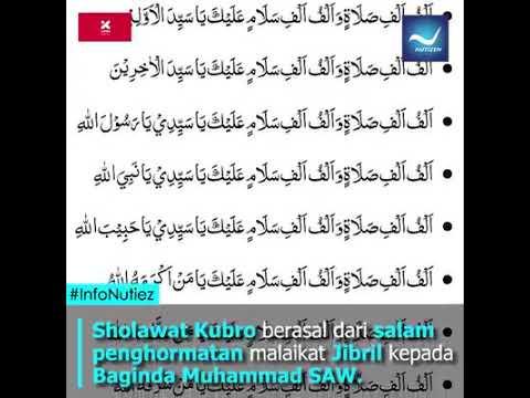 Berbagi Ilmu Fadhilah Sholawat Kubro Salam Malaikat Jibril