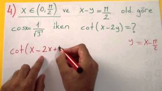 Trigonometri Soru Çözümü Şenol Hoca Matematik