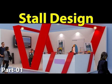 Stall Design in 3D max  Part-01