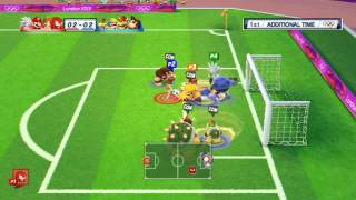 Mario and Sonic at the London 2012 Olympic Games: Part 10 - Football