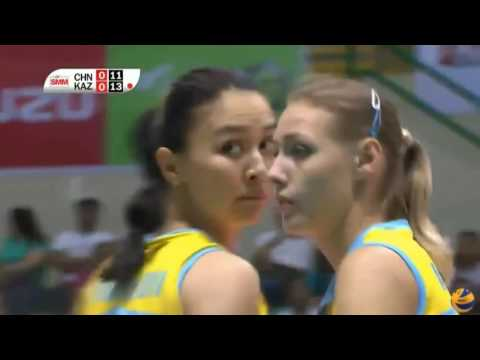 CHINA Ba'yi Shenzhen 3 1 KAZAKHSTAN  Altay = Women's Club Volleyball Championship