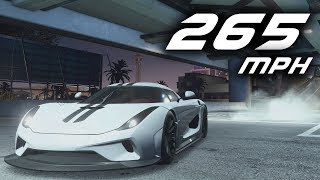 Need for Speed Payback - FASTEST CAR 265 mph (Koenigsegg Regera)