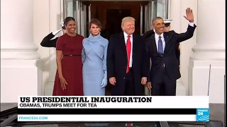 US   Obamas and Trumps meet for tea before the presidential inauguration