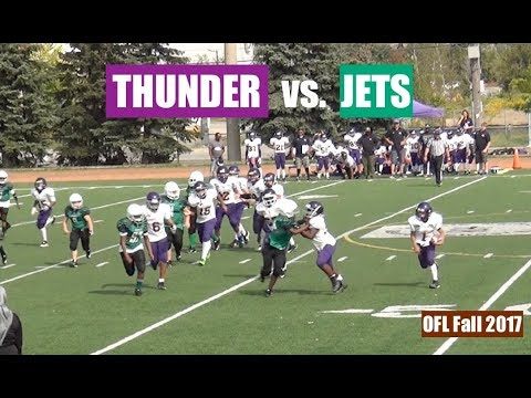 Toronto Thunder vs. Toronto Jets (Pee Wee Football) OFL FALL 2017