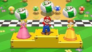 Mario Party 9 - Garden Battle - Mario vs Peach vs Luigi vs Daisy All Mini Game (Master Difficulty)