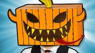 DIY Halloween Mask from Cardboard Box - Quick and Easy to Make at Home