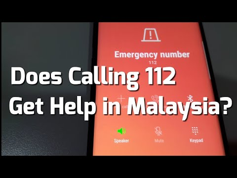 Test Calling Emergency Number 112 in Malaysia. Does it reach 999?