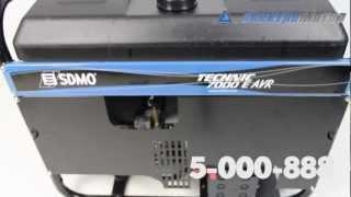 видео SDMO TECHNIC 6500 E с автозапуском