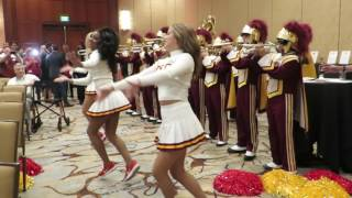 trojancandy.com:  See the Spirit of Troy and the USC Song Girls Perform Tusk at the Trojan Huddle