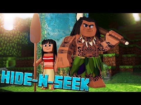 FINDING MAUI!? Moana Hide N Seek #1 (Minecraft Moana Roleplay)
