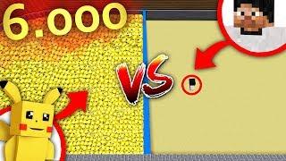 КАК ОДНОМУ ВЫСТОЯТЬ ПРОТИВ 6 000 ПИКАЧУ? ИСПЫТАНИЕ В МАЙНКРАФТ!