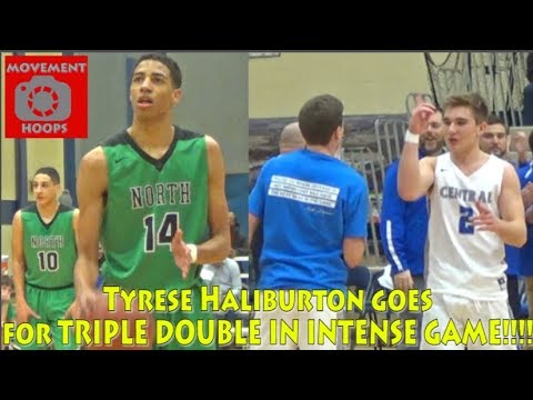 Top ranked Oshkosh North vs Brookfield Central! Tyrese Haliburton goes for triple double!!