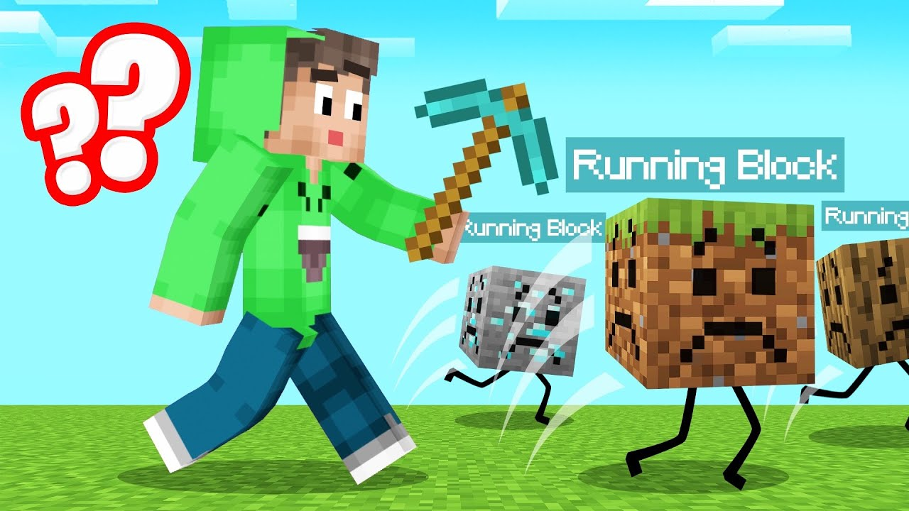 BLOCKS Get SCARED When You MINE THEM! (Minecraft) thumbnail