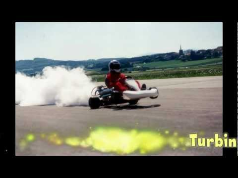 Dragster Go-Kart with a 1500 HP  H2O2 turbine.mp4