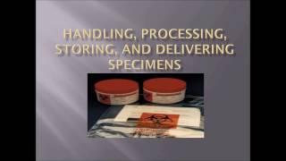 Handling, Processing, Storing and Delivering Specimens