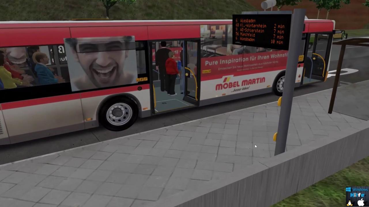 Omsi 2 Mainz Linie 68 von Hochheim Berliner Platz nach Klein ...