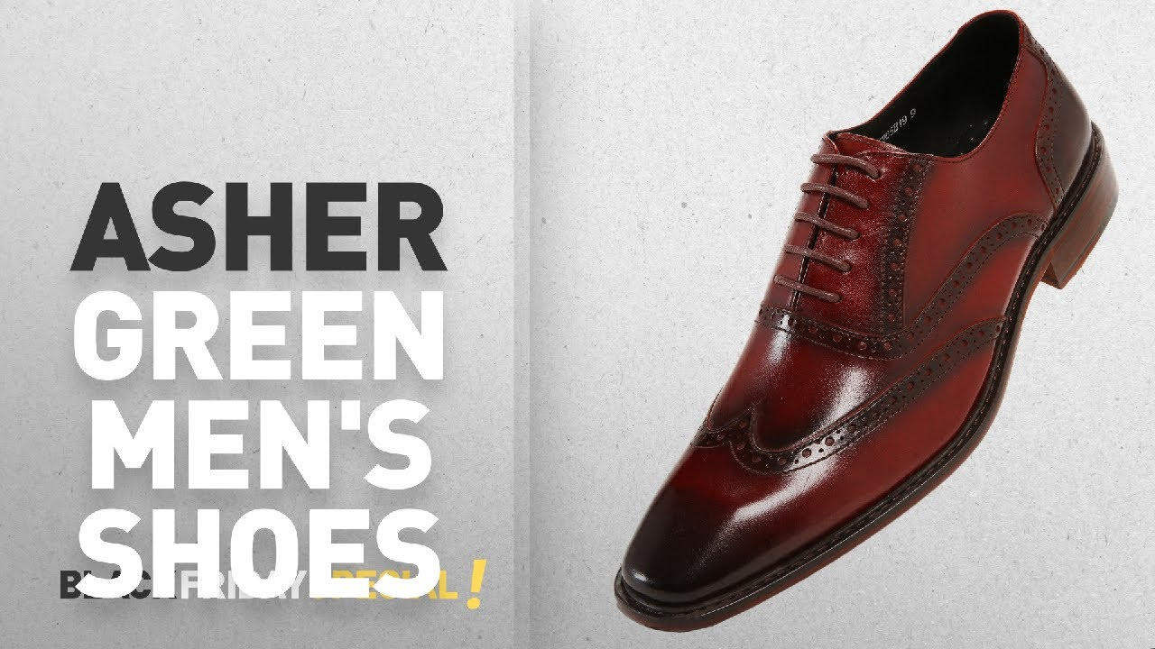 8c76a8b8ca61f Black Friday Asher Green Deals: Asher Green Mens Genuine Leather Burnished  Wingtip, Lace Up Oxford